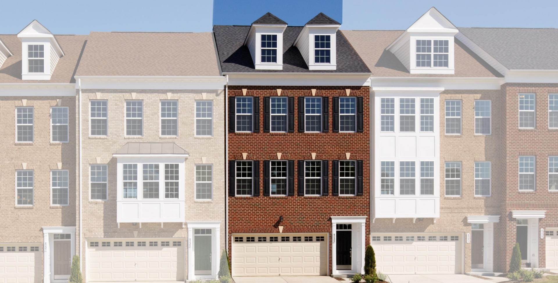 Townhome in md va grove end mid atlantic builders for Mid atlantic home builders