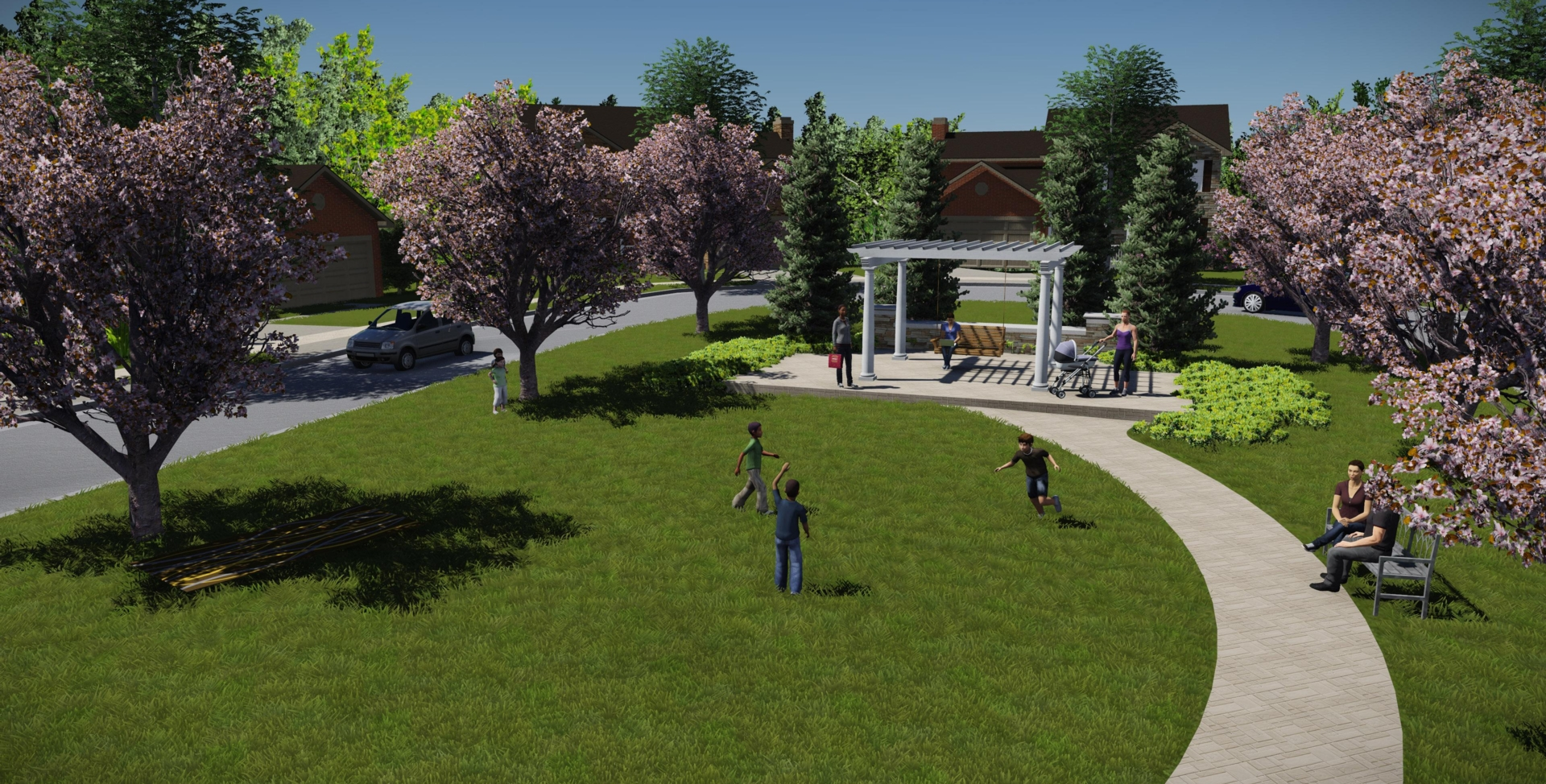 Rendering of Community Park