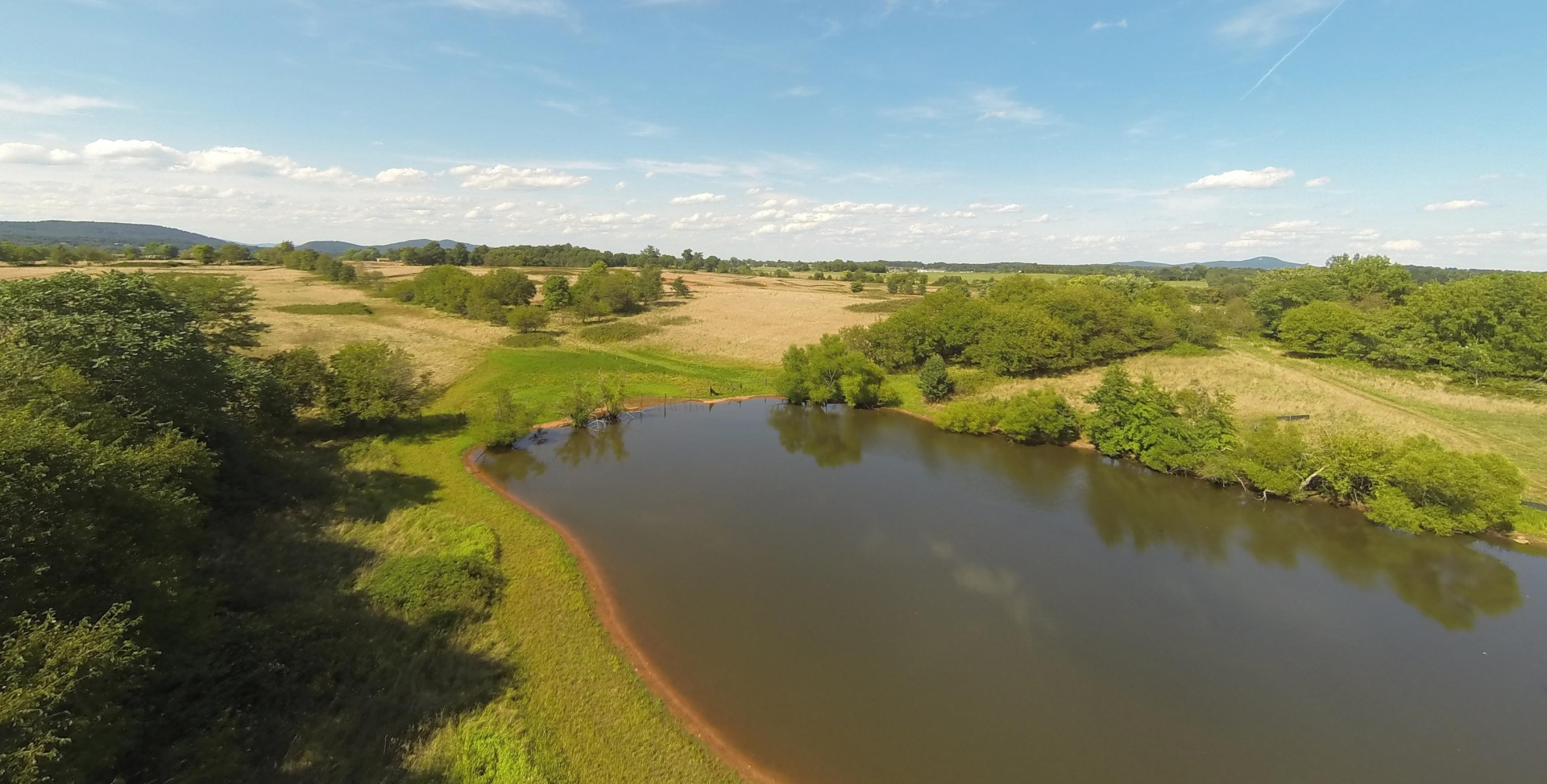 Aerial View of Community Lake