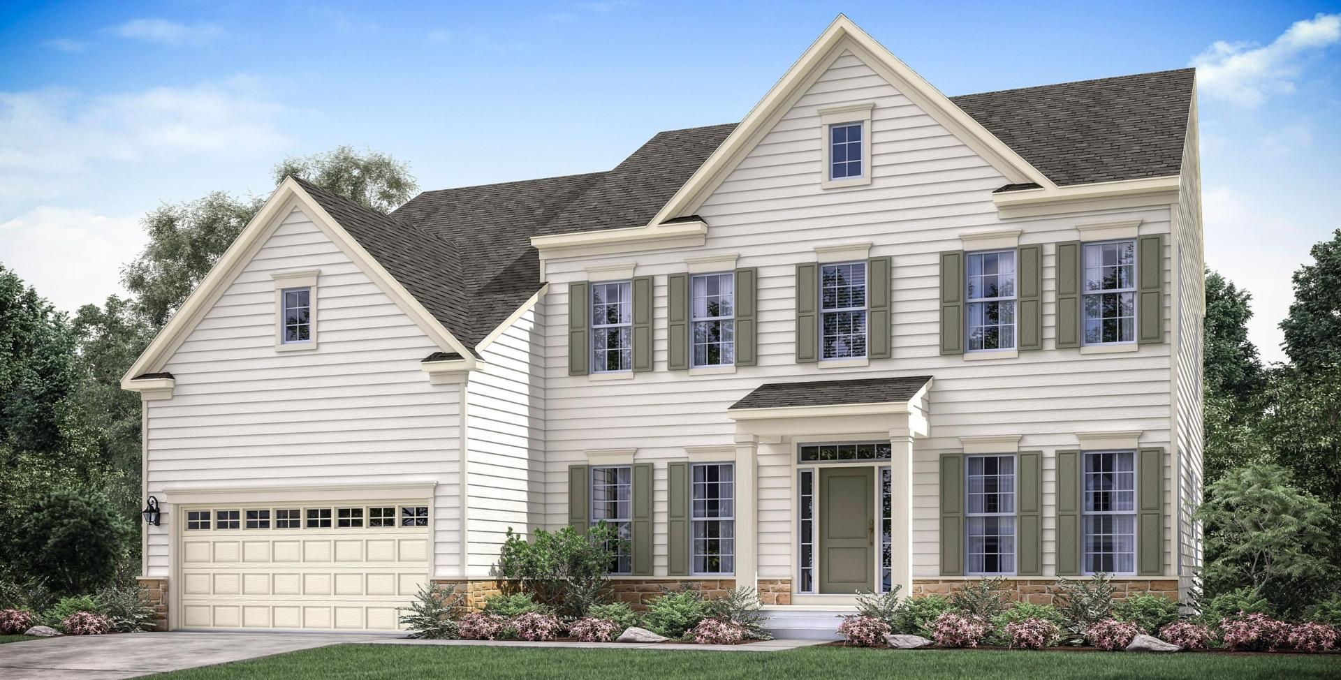 Single family home in md va lugano mid atlantic builders for Mid atlantic home builders