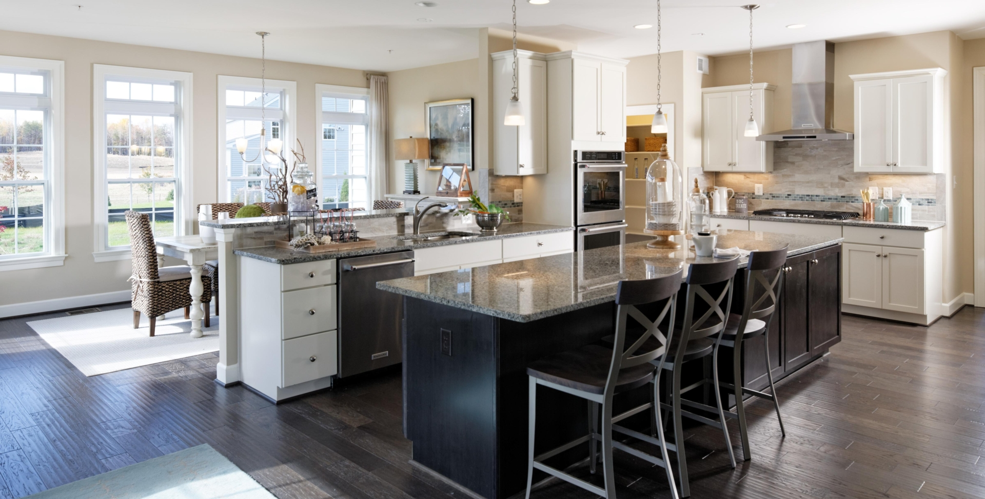 Expansive Gourmet Kitchen and Gathering Island